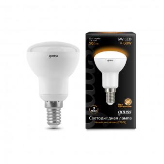 106001106 Лампа Gauss LED Reflector R50 E14 6W 2700K 1/10/50