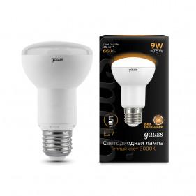 106002109 Лампа Gauss LED Reflector R63 E27 9W 2700K 1/10/40