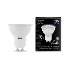 101506107 Лампа Gauss LED MR16 GU10 7W 2700K, шт