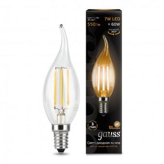 104801107 Лампа Gauss LED Filament Candle tailed E14 7W 2700К 1/10/50, шт