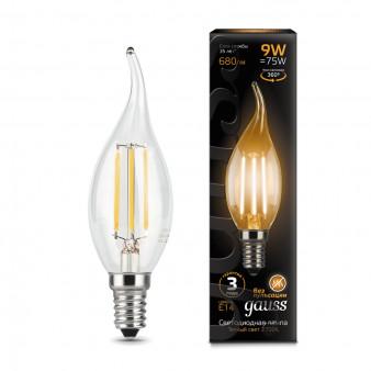 104801109 Лампа Gauss LED Filament Candle tailed, E14, 9W, 2700K 1/1/50, шт