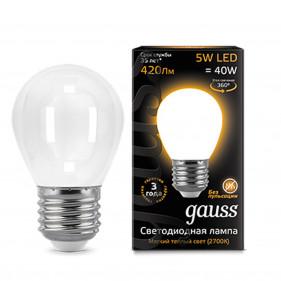 105202105 Лампа Gauss LED Filament Globe OPAL E27 5W 2700К 1/10/50, шт
