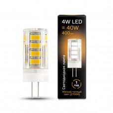 Лампа Gauss LED G4 AC185-265V 4W 400lm 2700K керамика 1/10/200