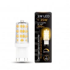 107309103 Лампа Gauss LED G9 AC185-265V 3W 280lm 2700K 1/20/200 диммируемая