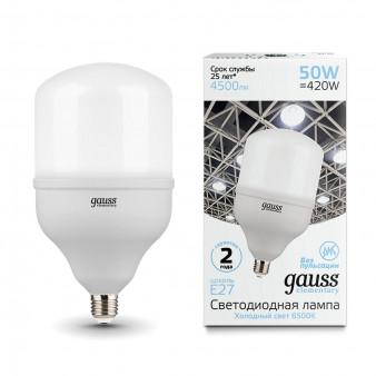 63235 Лампа Gauss Elementary LED T140 E27 50W 4500lm 180-240V 6500K 1/8