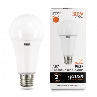 73219 Лампа Gauss LED Elementary A67 30W E27 2320lm 3000K 1/10/50
