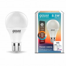 1130112 Лампа Светодиодная Gauss Smart Home DIM+CCT E27 A60 8.5 Вт 1/10/100