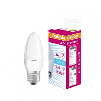 Светодиодная лампа LSCLB75 8W/840 230V E27 10X1  RU   OSRAM