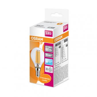 Светодиодная лампа LSCLP60 CL 5W/840 230V FILE1410X1RUOSRAM