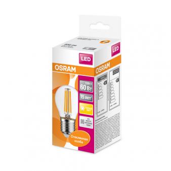 Светодиодная лампа LSCLP60 CL 5W/827 230V FILE2710X1RUOSRAM