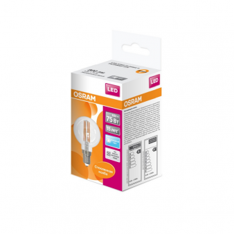 Светодиодная лампа LEDSCLP75 6W/840 230V FIL E1410X1RUOSRAM